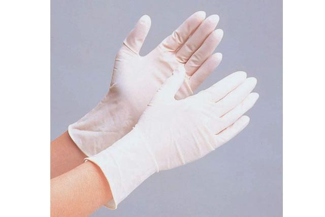 ミドリ安全 【極薄伸縮&やわらか】 使い捨て 天然ゴム手袋 ベルテ610N (粉なし/M/100枚)