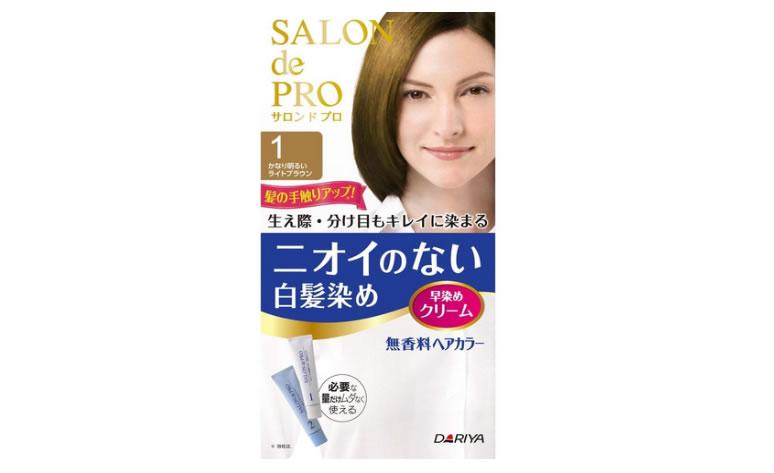 サロンドプロ 無香料ヘアカラー 早染めクリーム1 (かなり明るいライトブラウン)