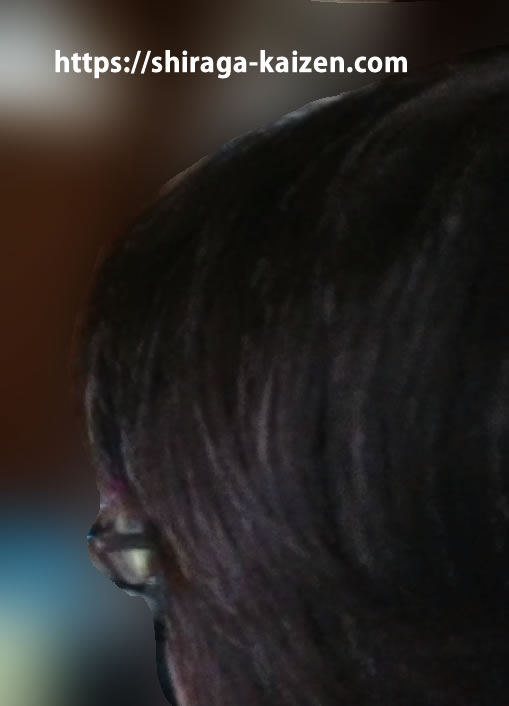 サイドの髪の状態